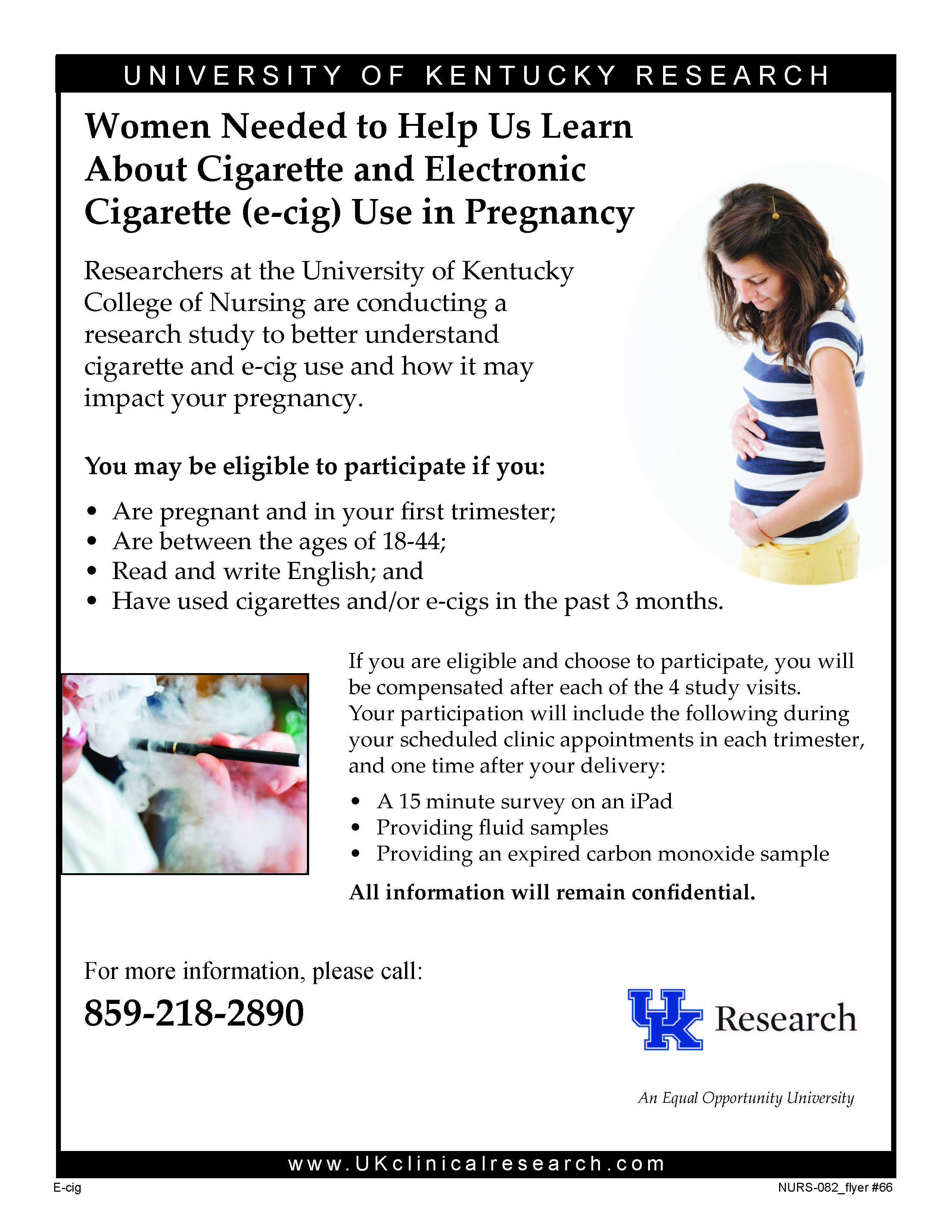 Women needed to help us learn about cigarette and electronic