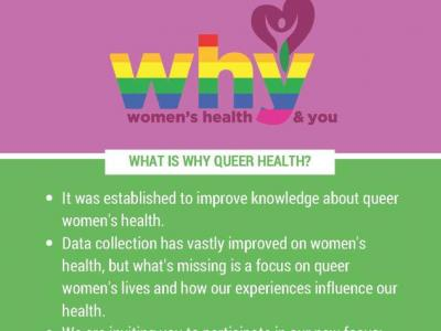 WHY Queer Health flyer