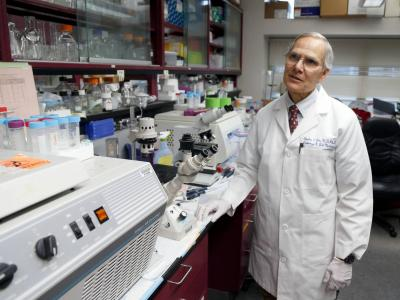 niversity of Kentucky pathologist Dr. Charles Lutz talked in his lab about his experience with prostate cancer at University of Kentucky Hospital After he was diagnosed, he started working on a cure for that cancer. Charles Bertram cbertram@herald-leader.com