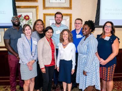 CHET team and community members at the September 2019 kickoff. Front row: Laurie McLouth, Shyanika Rose, Nancy Schoenberg, Ariel Arthur, Carrie Oser. Back row: Myles Moody, Vivian Lasley-Bibbs, Matthew Rutledge and Philip Westgate. Ben Corwin l UK Photo