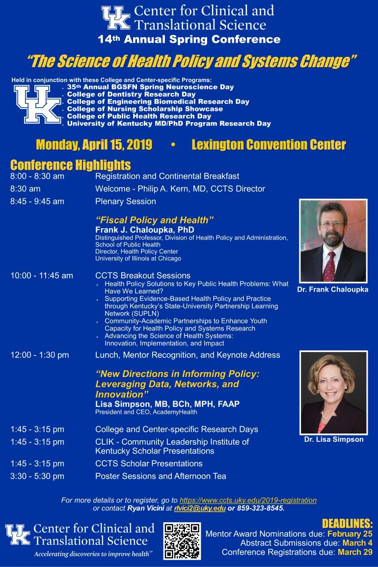14th Annual CCTS Spring Conference | UK Center for Clinical