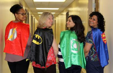 CCTS nurses in superhero outfits